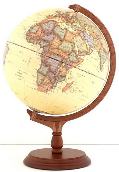 Globe terrestre Antique 31X44cm