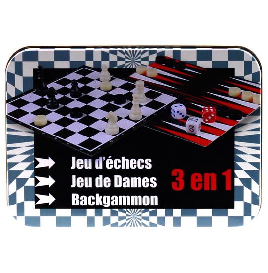 Jeu d'échecs , dames et Backgammon