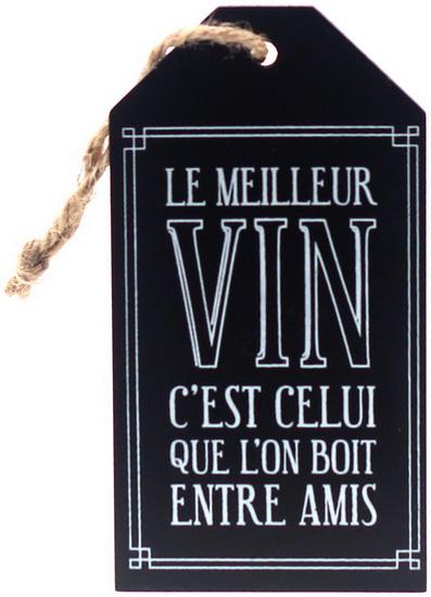 Étiquette pour bouteille de vin: Le meilleur vin …