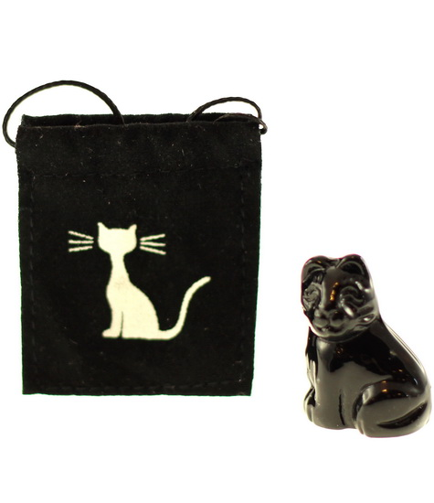 Mini chat noir Porte-Bonheur