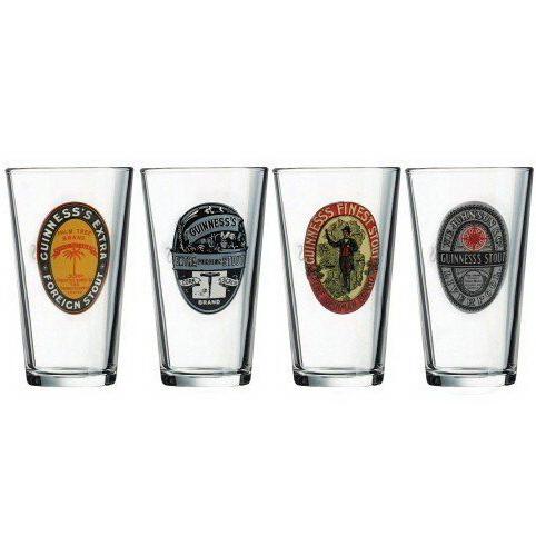 Ens. 4 Verres à bière Guinness
