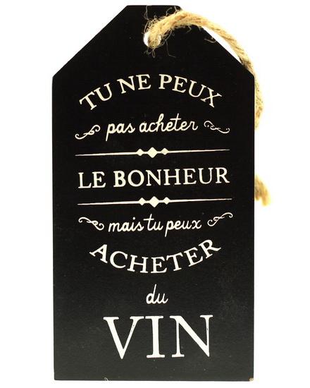 Étiquette pour bouteille à vin: Tu ne peux pas acheter…