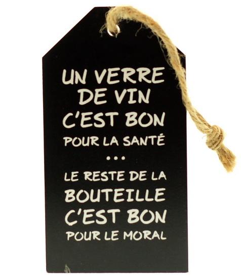 Étiquette pour bouteille de vin: Un verre de vin c'est bon...