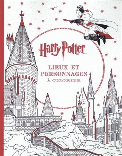 Harry Potter : lieux et personnages à colorier