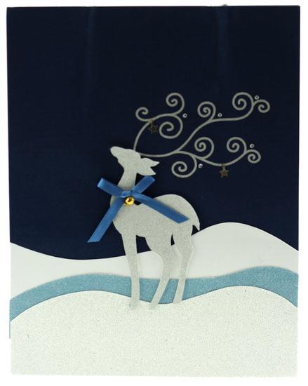 Sac moyen renne brillant avec boucle bleue