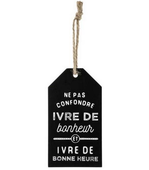 Étiquette pour bouteille de vin -  Ivre de bonheur