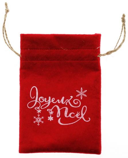 "Sac feutrine ""Joyeux Noël"" 11x15.5cm"