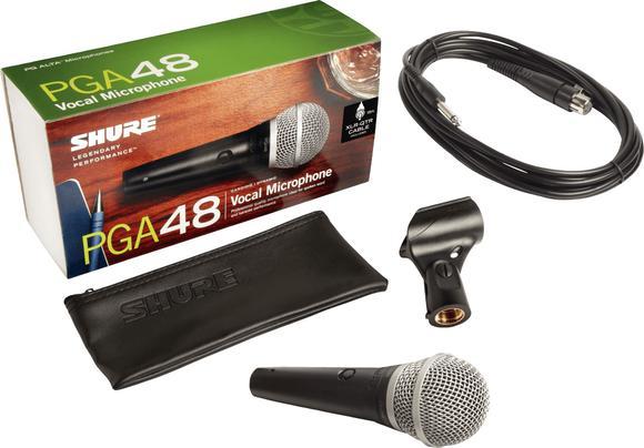 Microphone Dynamique Avec Interrupteur & Câble ¼