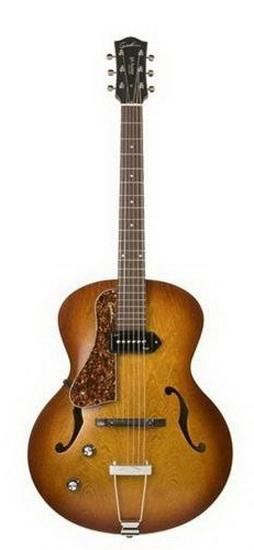 Guitare Acoustique Électrique Gauchère Arch Top Cognac