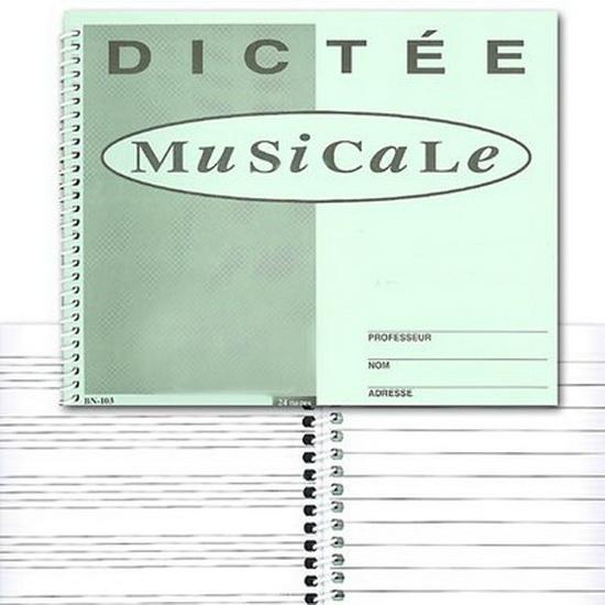 Cahier De Dictées Musicales (24 Pages)