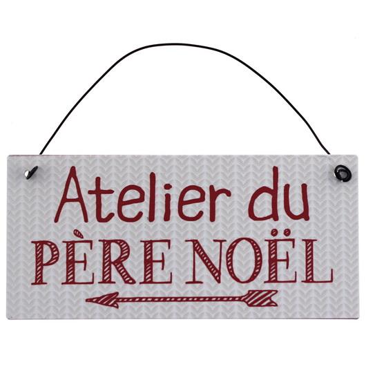 """Plaque """"Atelier du Père-Noël"""""""