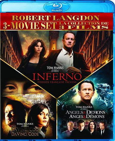 Angels & Demons/Da Vinci Code/The Inferno (3Bd)