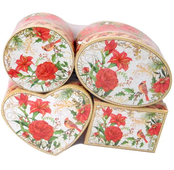 Boîte cadeau Poinsettia 4AS