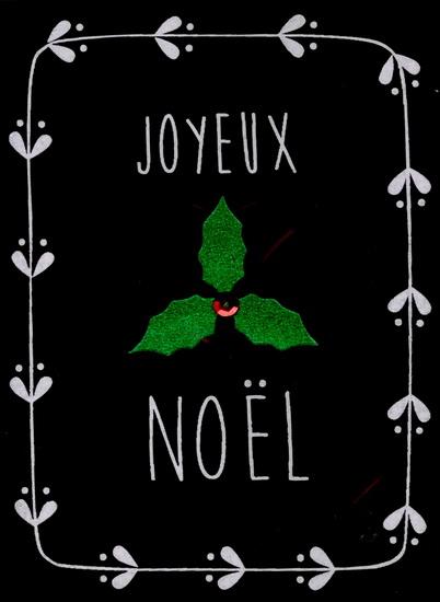 """Joyeux Noël"""" fond noir"""