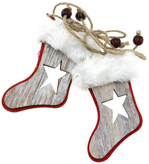 Ornement bottes et gants de Noël