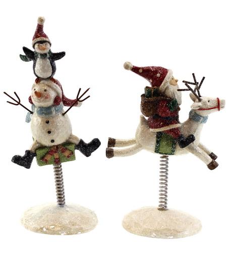 Figurine de Noël sur ressort 2AS