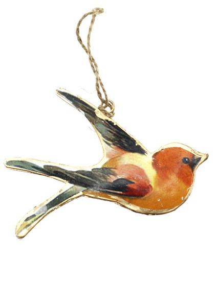 Ornement métal Oiseaux 6AS
