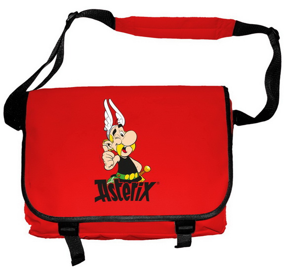 Sac messager Asterix rouge