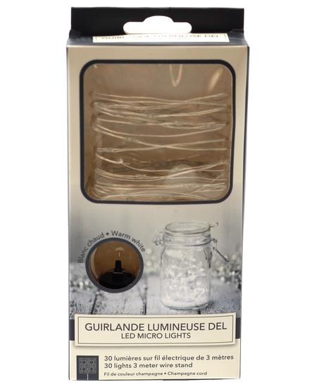 Guirlande lumineuse LED 3 mètres blanche