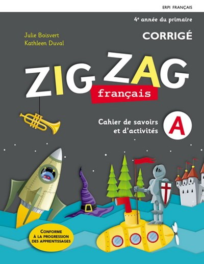 Zig Zag Francais 4e Annee Du Primaire Cahiers De