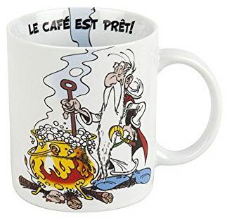 Mug porcelaine Astérix Le café est prêt