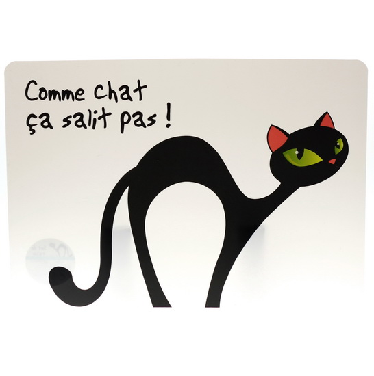 Napperon Chat transparent