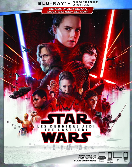 Star Wars : The Last Jedi (Star Wars : Les derniers Jedi) (blu-ray)