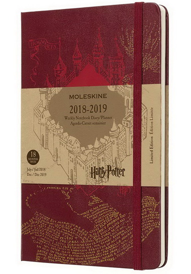 Agenda 2019 Moleskine Harry Potter 18M 1s/p Large