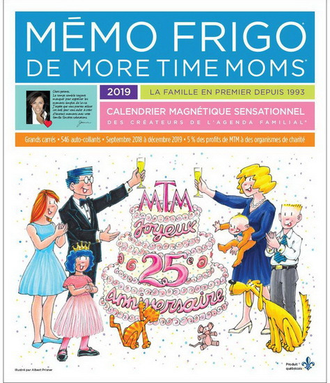 Calendrier 2019 Mémo frigo More time mom