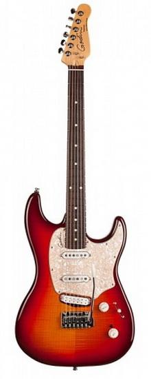 Guitare Électrique Progressoin Plus Cherry Burst Flame RN