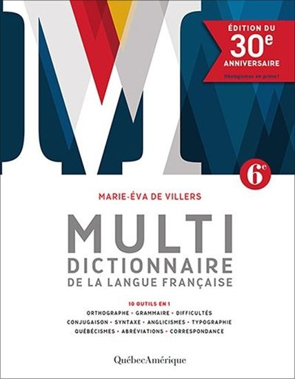Multidictionnaire de la langue française Éd. du 30e anniversaire