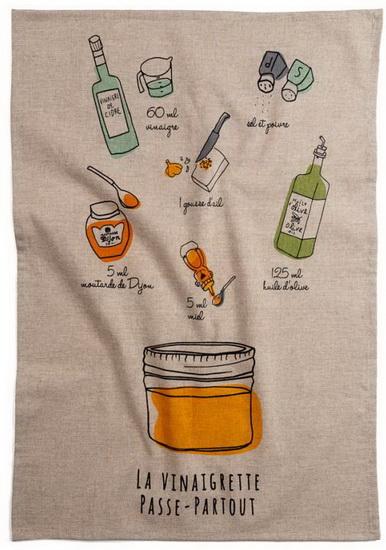 Linge à vaisselle Recette Vinaigrette