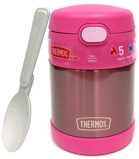 Contenant Thermos rose acier inoxydable 290 ml