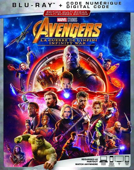 Avengers : Infinity War (La guerre de l'infini) (Blu-Ray)