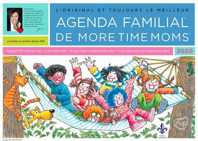 Calendrier Agenda 2020.Calendrier 2020 Mural More Time Moms Archambault