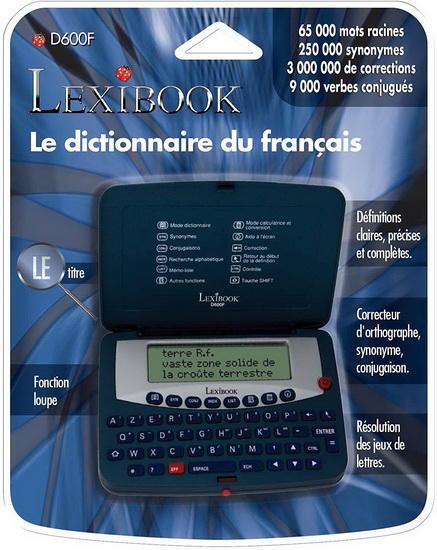 Dictionnaire électronique 65000 mots