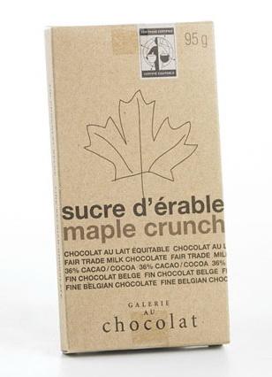 Chocolat au lait équitable Érable 36%